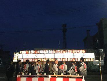2017 津澤夜高あんどん祭 田楽行燈の点燈式