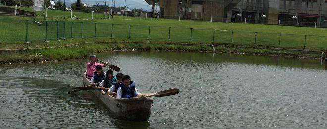 縄文丸木舟体験